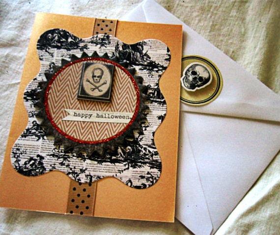 Halloween Primitive Greeting card Blank by Vampiregothchick