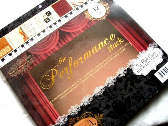 Scrapbooking Papers DCWV Performance Music set
