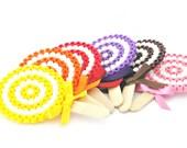 Lollipop candy hama beads brooch