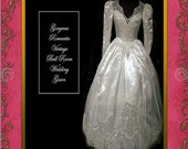 Romantic Vintage Ball Room Style  Wedding Gown -- Exquisite 2