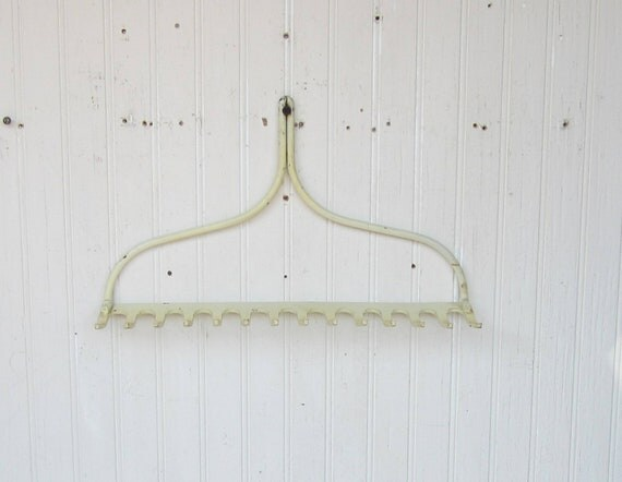 Rake Head White Farmhouse Chic Repurposed For Display Or Tool And Jewelry Organizer