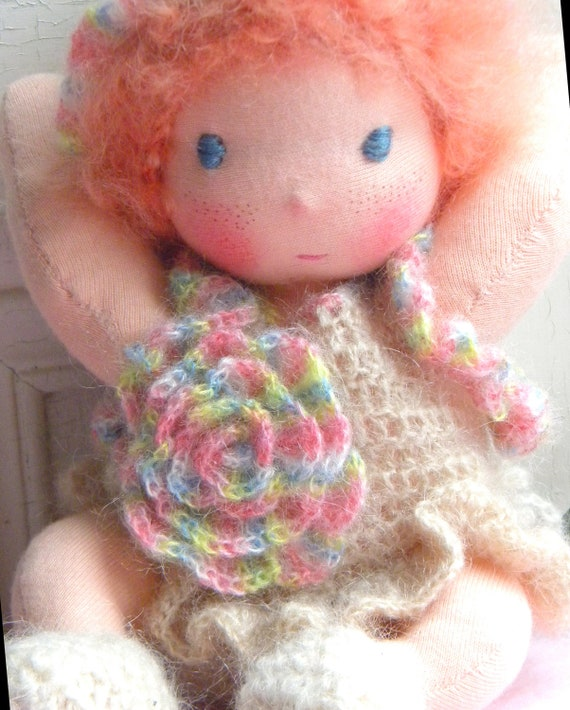 Sissy,a little Waldorf doll all handmade.
