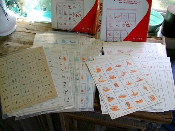 vintage school 1st grade alphabet phonics sets by Ideal School Supply homeschool