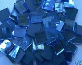 100 Ocean blue Mirror Handcut  Mosaic Glass Tiles 1/2 inch art craft hobby