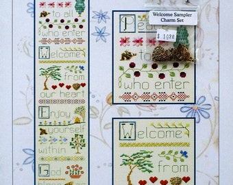 Welcome Sampler With Charm Pack - An Elizabeth's Design of Speciality Stitches Including Counted Cross Stitch