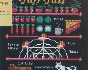 Fall Fair Sampler - An Easy Counted Cross Stitch Chart From Great Bear Canada