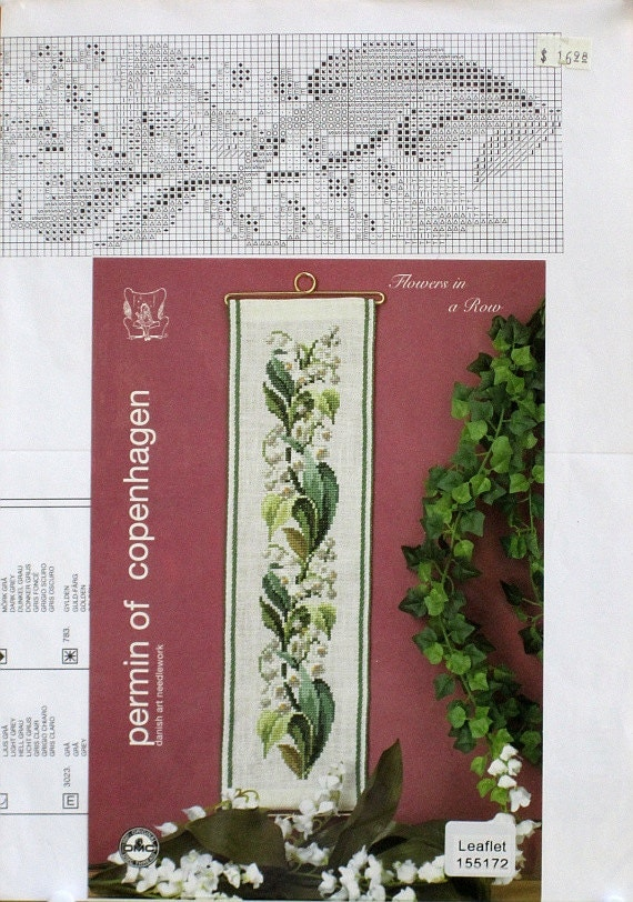Lilies - Flowers in a Row Permin 15-5172 Cross Stitch Chart