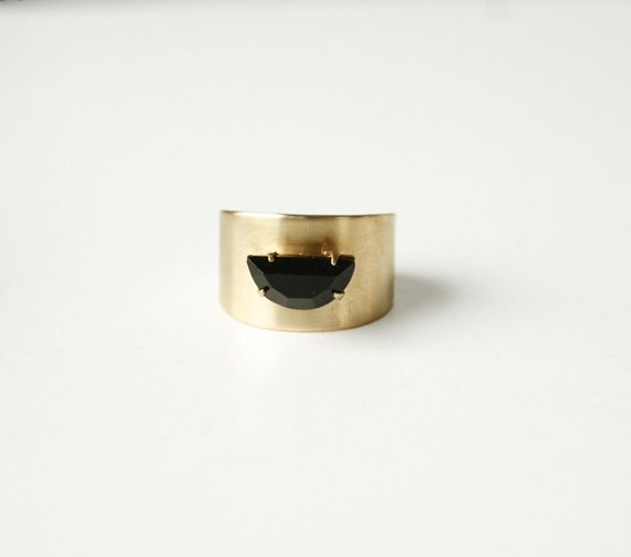 The Black Moon Ring, adjustable