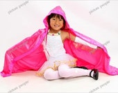 Satin Hooded Cape Dress-Up Cloak Custom Princess 2-8T