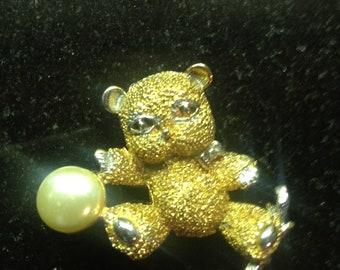 Sale Vintage Hattie Carnegie Pin Brooch  Cute Bear