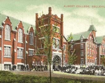 Albert College BELLEVILLE Ontario  - Vintage Postcard Nerlich & Co