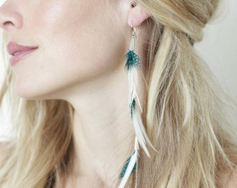 Pegasus Traveler, The Long Single feather earring that brings magic to your life