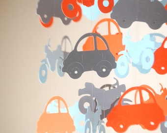 Car and Motorcycle Floating Paper Mobile