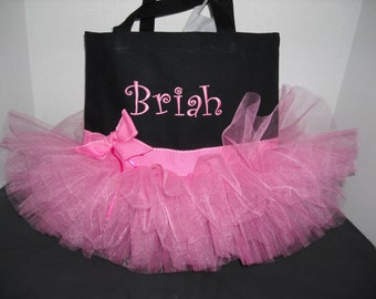 Tutu Tote - Personalized  Bubble Gum Pink or Choose your colors