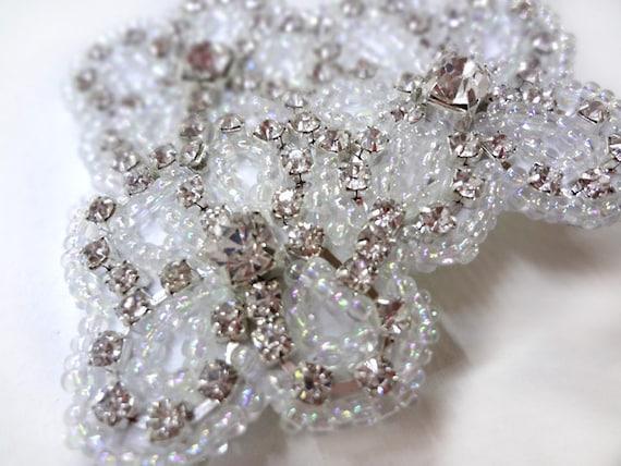Rhinestone Flowers Hair Clip - Cute Wedding Hair Clip