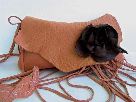 Leather clutch shoulder bag wristlet by Tuscada. Reserved for H
