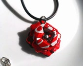 Recycled Jewelry Coca Cola Rose Necklace Upcycled Aluminum Can Jewelry Recycled Soda Can Jewelry Eco Friendly Tin Can Art - N045