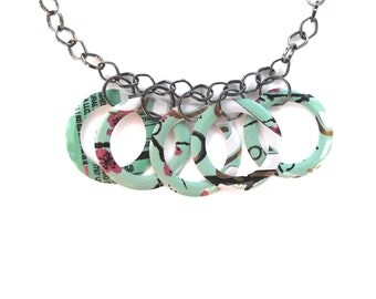Women Jewelry Arizona Tea Women Gift Recycled Soda Can Circles Eco Friendly Aluminum Can - N84