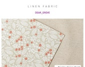 Linen Fabric Sticker Decorative - DEAR GROVE (A4 size of one sheet)