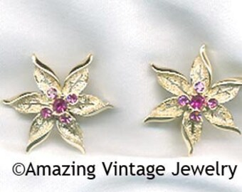 Sarah Coventry FASHION FLOWER Earrings  - 1967  SALE 8.00