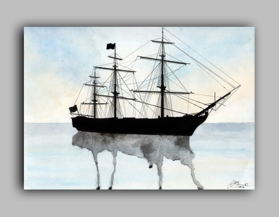 "HMS Victory Watercolour Ships series, Print 5"" x 7"" - Paint the Moment"