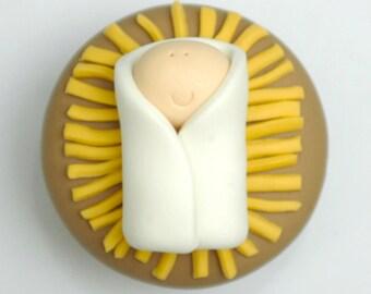 Baby Jesus Christmas Cupcake Tutorial PDF