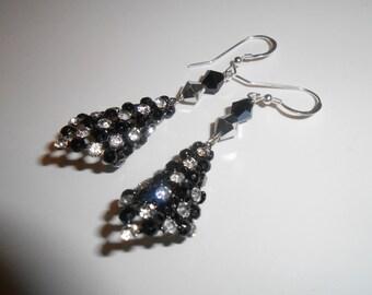 Crystal Pierced Dangle Earrings