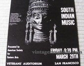 1968 SOUTH INDIAN Music Concert Sixties Poster San Francisco Boxing style