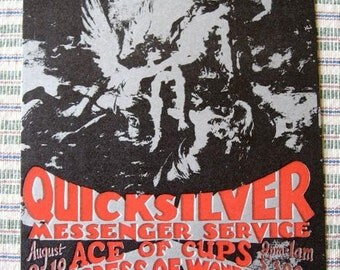 QUICKSILVER Original Concert Postcard Fillmore ERA UNCOMMON Done to Advertise the Show Blues