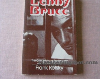 LENNY BRUCE First Edition Paperback 1974 Frank Kofsky Fifites Beat Author