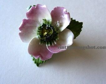 "English Pin  Vintage Bone China Brootch  1 1/2""  exc  2 inches Vitage"