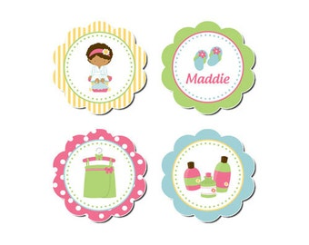 50% Off Sale! - PRINTABLE Spa Party Circles