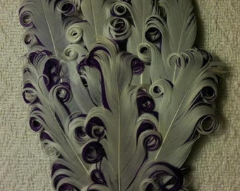 White and Purple Nagorie Feather Pad