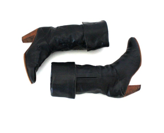 Vintage Black FRYE Slouch Boot