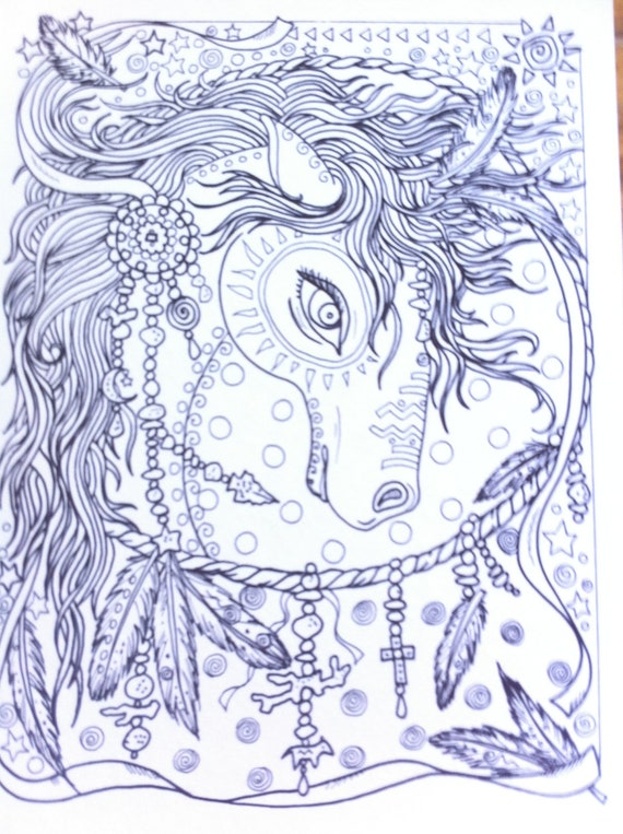 Animal Spirits Coloring Book for you to Color and be the