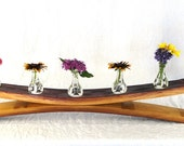 "CANDLE HOLDER - ""Freesia"" - Wine Barrel Candle / Vase Holder - 100% recycled"
