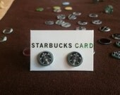 Starbucks Coffee Siren Stud Earrings made from recycled materials