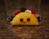 Happy Taco Felt Refrigerator Magnet