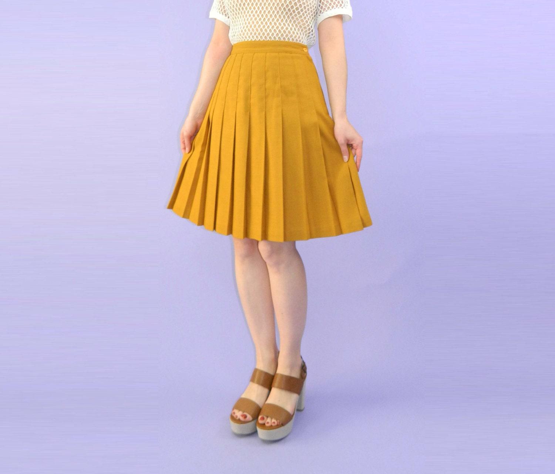 Yellow Pleated Skirt