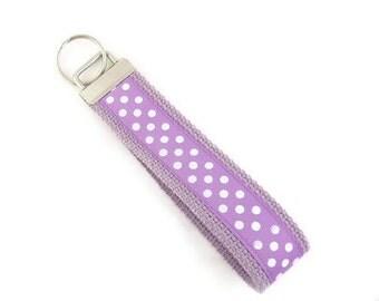Lilac Key Fob Ladies Key Wristlet Wrist Key Chain
