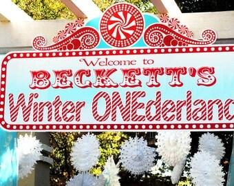 Winter ONEderland Winter Wonderland Welcome Sign  Door Sign - Gwynn Wasson Designs PRINTABLES