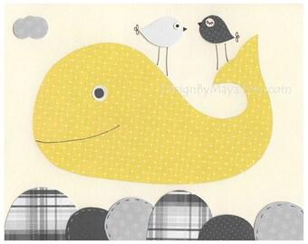 Whale Nursery Art Decor Nursery Print Bathroom Art Baby Whale Nursery Decor