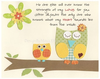 Baby Room Decor, Nursery Art, Treetop Friends, gender neutral prints for baby room, no one else, blue, green, yellow, red, orange, owl them