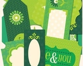 Green Die-Cut Labels from Life's Little Occasions by K&Company 21 pieces