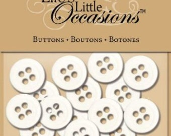 White Button Pack from Life's Little Occasions by K&Company 15 pcs