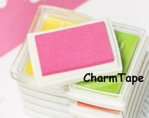 Stamp Ink Pad Oil Based waterproof for wood, fabric and paper - Crimson PINK