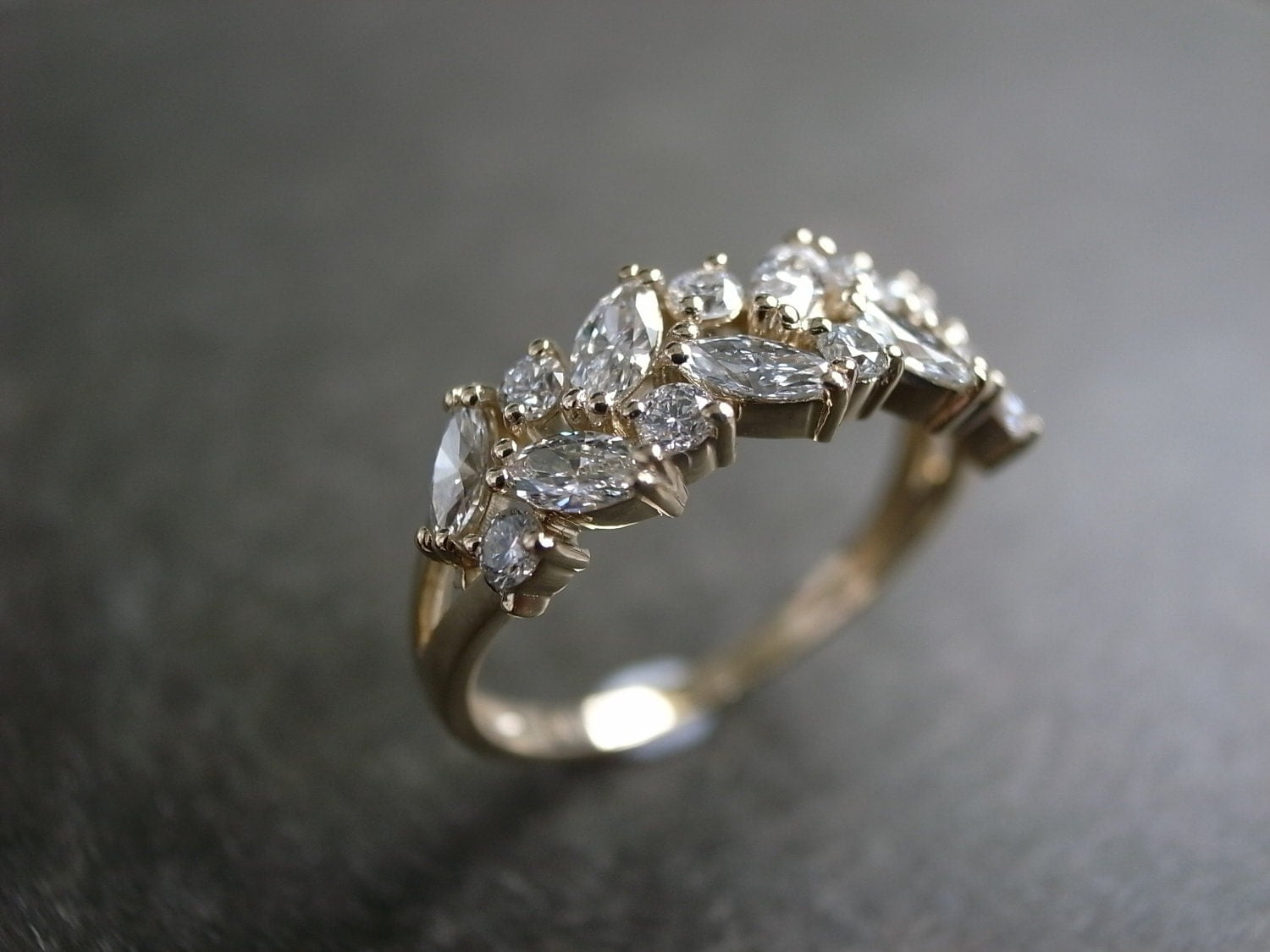 Marquise Wedding Ring / Engagement Ring / Diamond Ring /