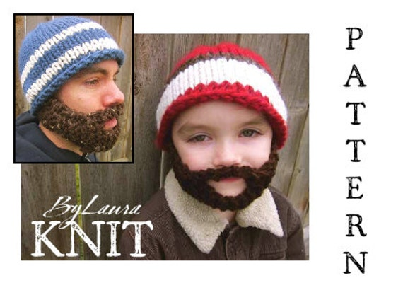 Nice Knit Beard Hat Pattern Photo Easy Scarf Knitting Patterns
