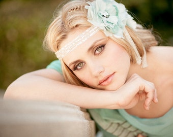 Something Blue, Vintage Floral Headband
