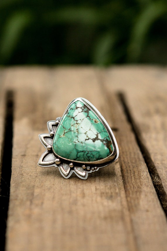 Firecracker Ring in Turquoise and Sterling